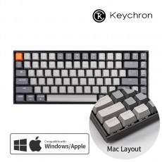 Keychron K2 RGB 맥 애플/윈도우 라이트 그레이 키보드(블루투스) 한글 - 스위치선택
