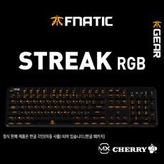 프나틱기어 STREAK RGB 게이밍 키보드 레드(적축) 한글