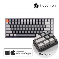 Keychron K2 RGB 맥 애플/윈도우  다크그레이 알루미늄 키보드(블루투스) 한글 - 스위치선택